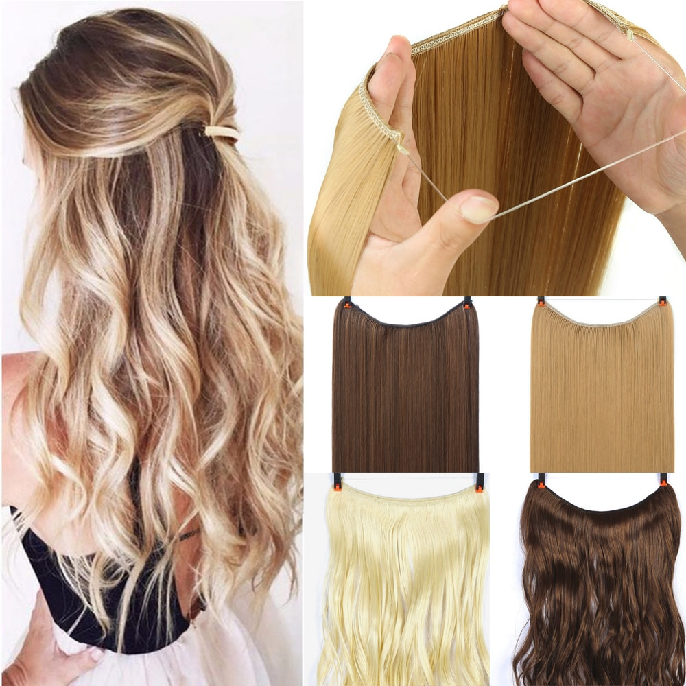 24 inch Invisible Halo Hair Extension 2