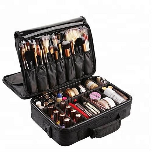 Makeup Bag And Cosmetic Travel Organizer