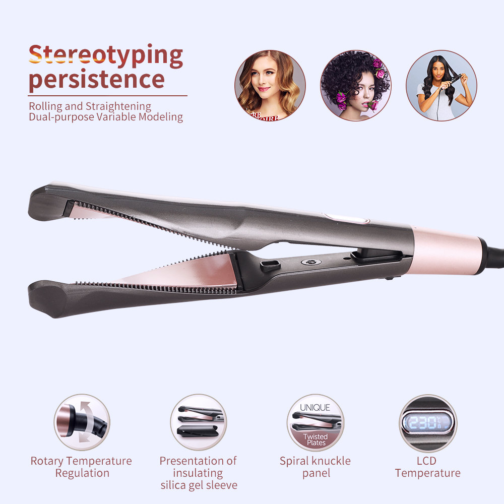 2 in 1 Hair Curler and Straightener 2