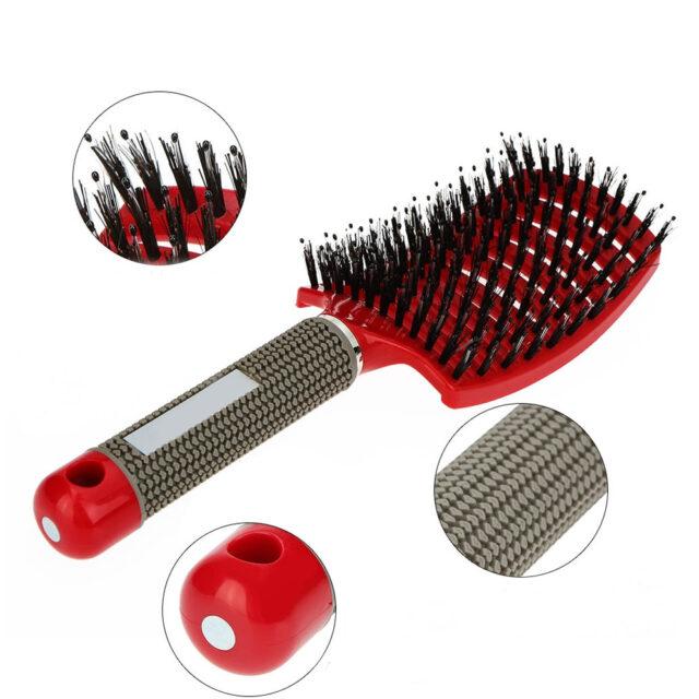 Massage Comb Bristle Nylon Hairbrush Scalp Massage Comb Curly Detangle Hair Brush Shower Massage Comb Hairdressing Salon Tool